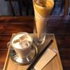 関内桜通りのI'm homeでホイップバターのクレープとカフェオレ