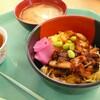 うな丼 麦わら帽子 ブルーベリーまつり準備→食品、パン、テント ヘメロカリス