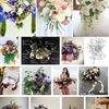 ペルセポネー1  バラ・クロッカス・スミレ・アイリス・ユリ・ヒエンソウ:冥王ハーデースにさらわれる前にペルセポネーがニンフたちと春の牧草地で摘んでいた花々です.「ペルセポネーのブーケ」としてウェディング用に宣伝されています.
