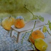 2017年:4月『果物のある静物 - 大きなレモン』