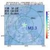 2017年10月19日 20時19分 九州地方南東沖でM3.3の地震