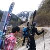大日岳(2501m)〜山スキー・アイゼンにて