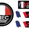ドライブレコーダー 防水・耐熱 ステッカー シール あおり運転対策 国旗 フランス 丸型/四角 | Biijo