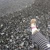 千本浜をお散歩中、芸術的なピースマークを発見!(沼津市)