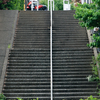 階段上下の対比