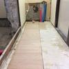 床貼り・吊戸取り付け・キッチン造作