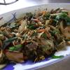 幸運な病のレシピ( 1189 )夜:チジミ粉の刻みパセリ+レバーのニラ炒め、汁