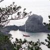 関東で最も美しい泊地、式根島吹の江にやってきました