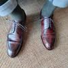お気に入りの革靴で出勤!
