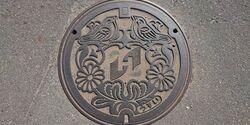 茨城県ひたちなか市のマンホール
