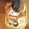 1歳児、平日の朝ごはん☆一口おにぎりとお味噌汁が定番です。
