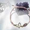 新商品のお知らせ~蝶とお花のマクラメブレスレット(ピンク&ホワイト)~