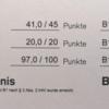 ドイツ語DTZ Prüfung B1合格の点数結果