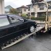鶴ヶ島市からレッカー車で車検の切れたパンクの不動車を廃車の引き取りしました。