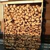 薪ストーブ始生代118 薪棚の観察~薪は沈む