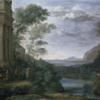 風景画の大元,クロード・ロラン 『シルヴィアの鹿を射るアスカニウス』