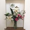 香りの効果 玄関ホールのニッチに花を飾りました