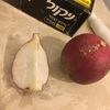 再再スパゲッティ・鶏挽き肉と蕪(白)の軽い煮込みソースおき