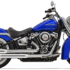 パーツ:Bassani Xhaust「Staggered Dual Exhaust System for 2018 Softail Heritage & Deluxe」