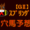 【GⅡ】スプリングS ◎アサマノイタズラ的中‼