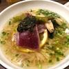 627. 鮪と生海苔と山椒の塩ラーメン@八咫烏(九段下):激うまマグロ炙りと生海苔山椒ダレの組み合わせが美味しすぎる一杯!