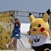 横浜赤レンガ倉庫 ピカチュウ「ずぶぬれスプラッシュショー」で、谷さくらさんを観てきました~!