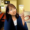 町中華姐さん、高田秋ちゃんをエクセルで描いてみた