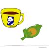 パンダの喫茶店「カフェ 群青パンダ」8 パンダのイラスト
