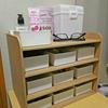 脱衣所に置く用の小物棚を製作しました