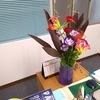 お花が少ないっ。今週のお花は、輸入花が中心になってしまいました。