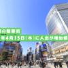 東京都の繫華街、2021年4月15日(木)に人出が増加傾向