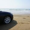 石川旅行-能登半島で砂浜を車で走れる「なぎさドライブウェイ」を撮りました