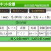 1点勝負結果・8/20(日) JRA札幌 注意馬