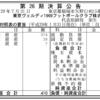 2017年1月31日決算 東京ヴェルディ1969フットボールクラブ株式会社 第26期決算公告