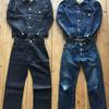 デラックスウエア DX401XX 1stデニムジャケットとDX076A オリジナルジャストストレートそして7640 40sデニムシャツの経年変化(^^♪