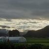 今日の朝日と空と雲