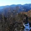 両神山。1月上旬。