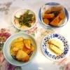 ささみ梅肉和え、ピーマン鰹節、かぼちゃ煮物、玉子焼き