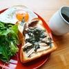 海苔のせエリンギマヨチーズトーストレシピ【朝食】