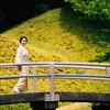 小石川後楽園での着物ポートレート