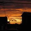 綺麗な夕焼けと二重の虹