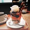 LENTO @元町 キャラメルプリンとコーヒーゼリーのパフェ