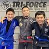 加山さんと吉野さんに青帯を授与しました。