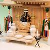 神棚の手前に豆八足台を二台使うと趣を変えた祭り方ができる