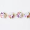 朝の製作時間と紫陽花のブーケ刺繍