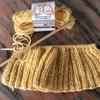 棒針編み  セリアの毛糸でニット帽を編む!