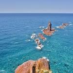 絶景「積丹半島」にて、青く透き通った積丹ブルーを堪能!!~「神威岬」、「島武意海岸」、「黄金岬」他。。。