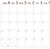 2017年ボンハレシンプルカレンダー無料ダウンロード!※終了