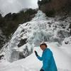 大峰有数の大氷瀑・琵琶の滝と中の滝を訪ねました
