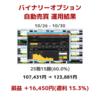 【10/26 - 10/30】バイナリーオプション自動売買運用結果